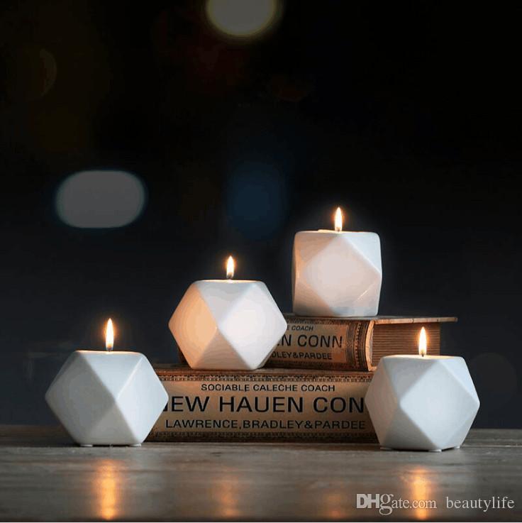 ارتفاع درجة الحرارة إطلاق السيراميك النمط الأوروبي بسيط الإبداعي السيراميك شمعدان الديكور مقهى ضوء الشموع العشاء شمعة شمعة حامل ث