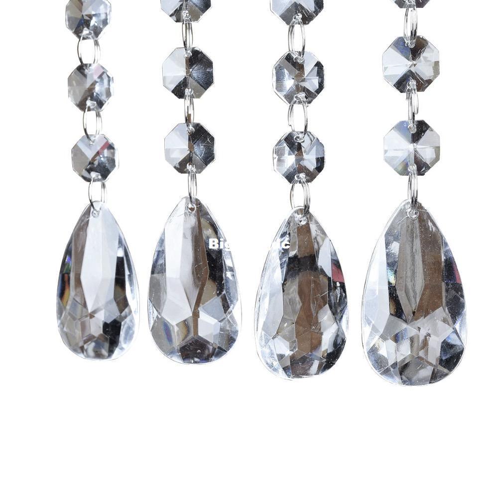 2018 1611 48 Strands Acrylic Crystal Bead Hanging Strand For Wedding ...
