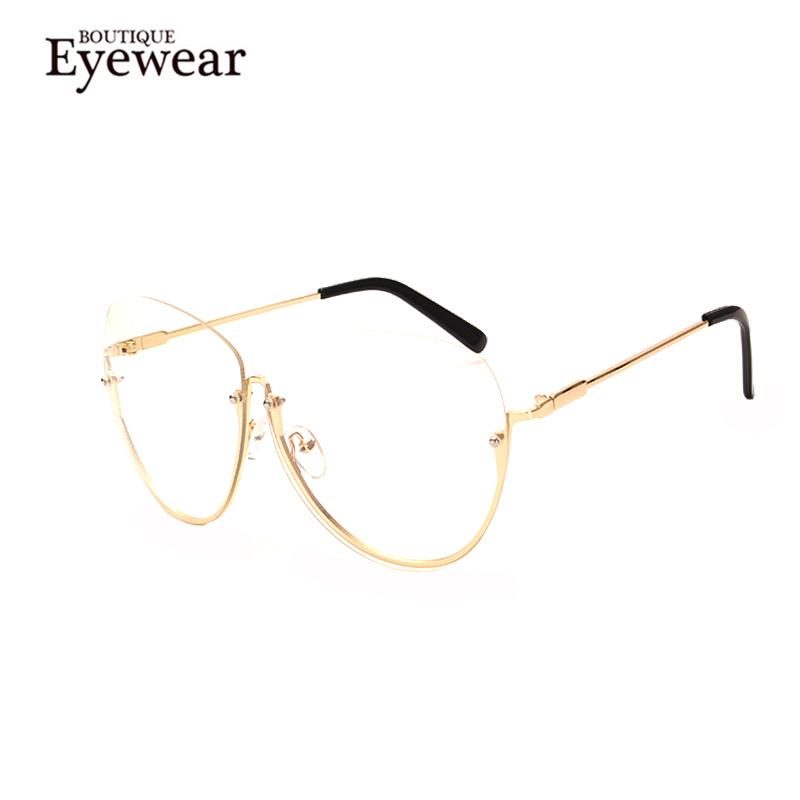 2bacb11a0a29 Wholesale- BOUTIQUE Women Luxury Rimless Eyeglasse Women Alloy Frame ...