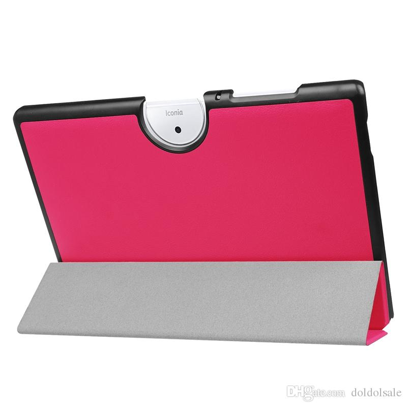 Slim PU Leather Cover Case with Stand for Acer Iconia One 10 B3-A40 10.1'' Tablet + Stylus Pen