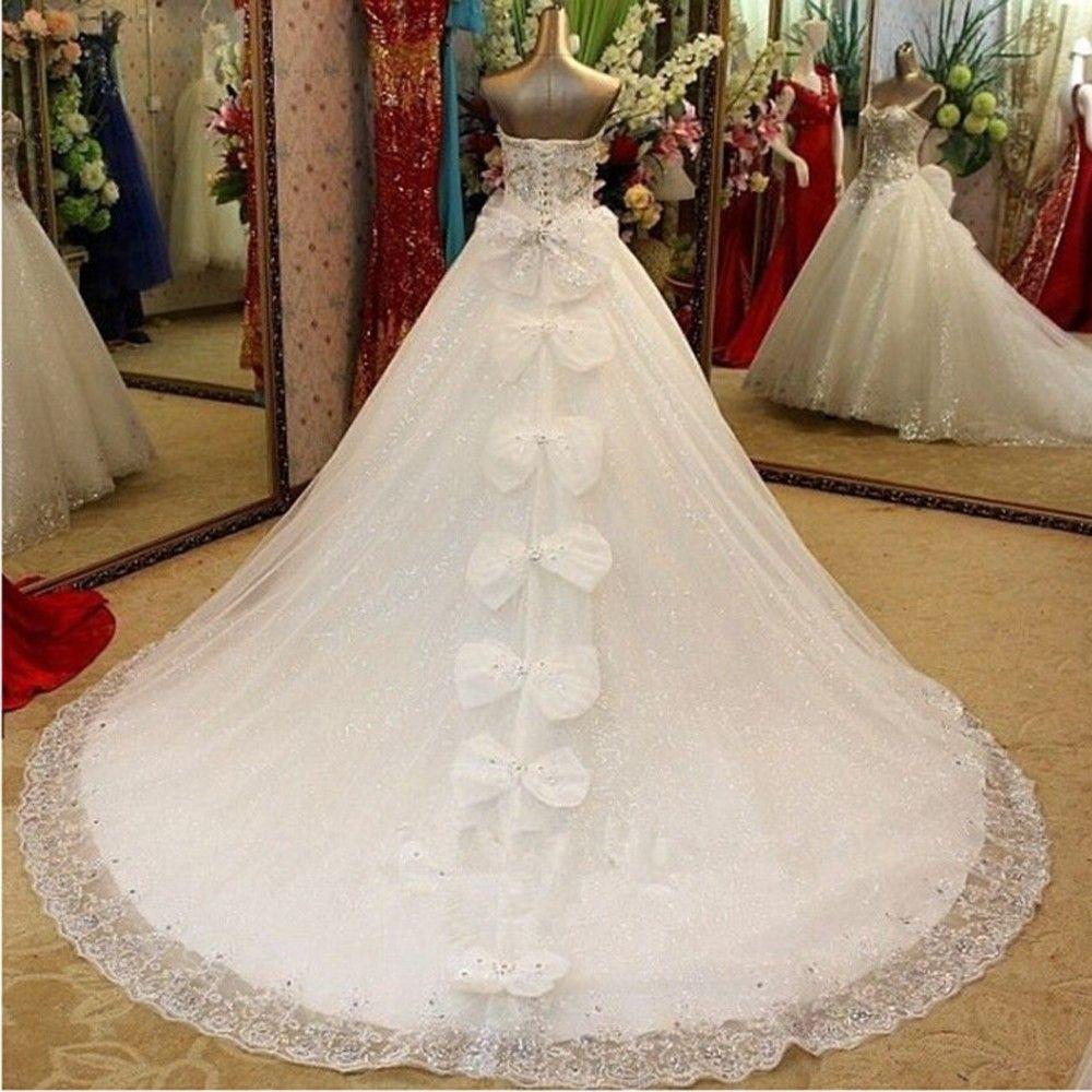 Discount 2017 New Bandage Tube Top Crystal Luxury Wedding Dress