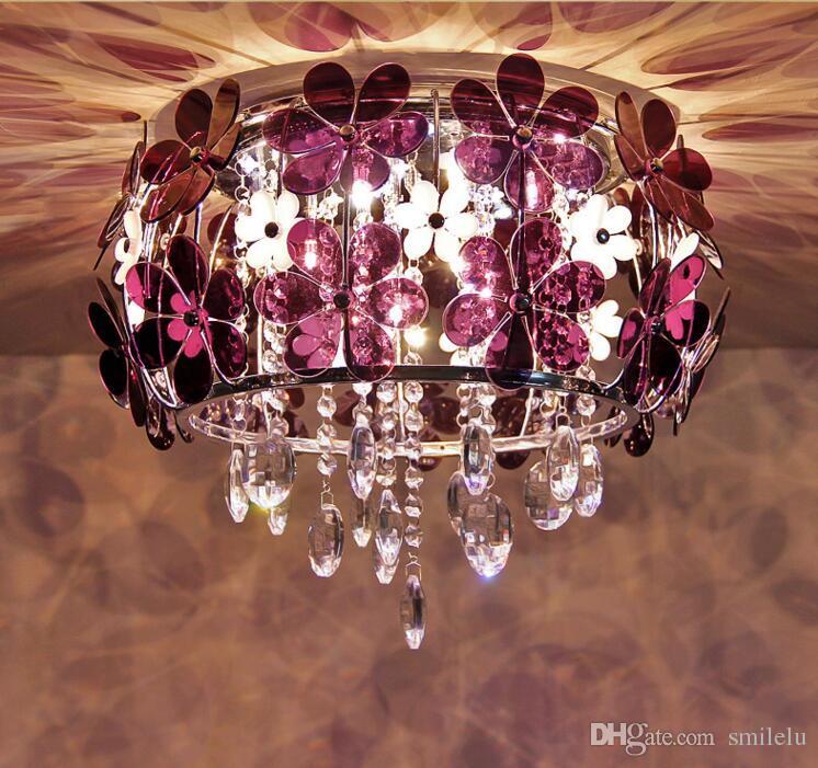 Modern led white flower crystal flushmount ceiling light lamp modern led white flower crystal flushmount ceiling light lamp lighting chandelie foyer pendant lighting screw in pendant lights from smilelu mightylinksfo
