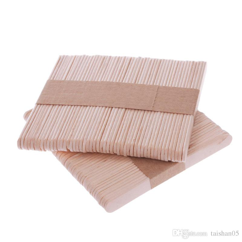 New /Pack Wooden Popsicle Stick Kids Hand Crafts Art Ice Cream Lolly Cake DIY Making Funny Hot