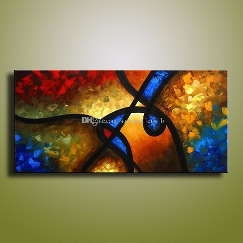 2019 Framed Pure Handicrafts Modern Abstract Art Oil Painting On