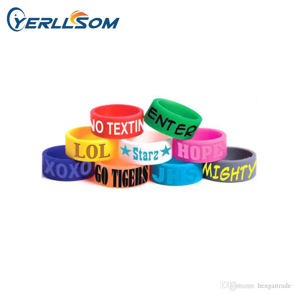 com emboss custom free shipping bands customonit silicone customized wristbands print