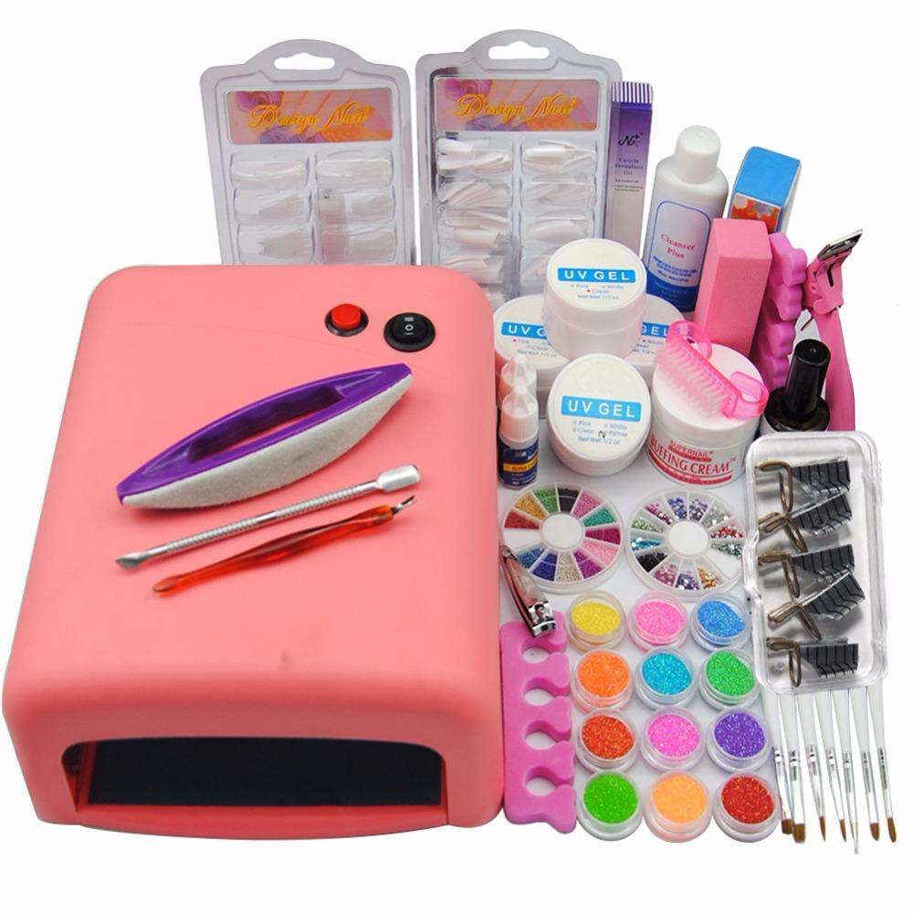 Wholesale Nail Art Kits 36w Uv Lamp Dryer Uv Gel Nail Polishes ...