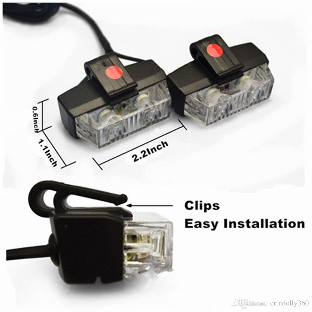 Spie luminose a LED, auto di emergenza, luci di emergenza, luci stroboscopiche e luci decorative il ponte anteriore