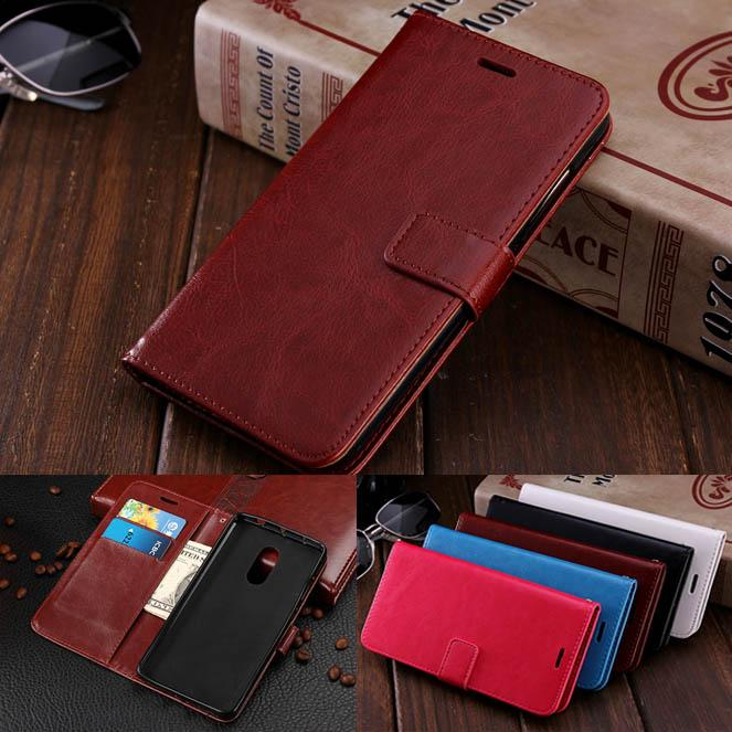 detailed pictures 4e1ac feff2 Redmi Note 4X Case for Xiaomi Redmi Note 2 3 4 Case Cover with Crazy Horse  Grain Card Holder Flip Cases