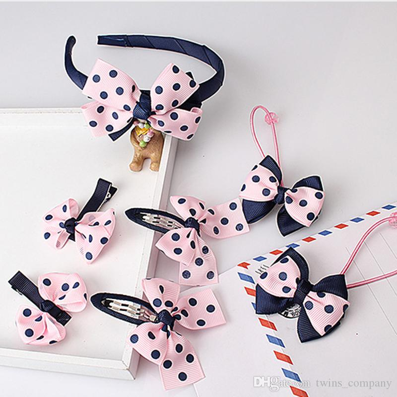 Baby Girl Hair Accessories Set Bow Knot Kid Hair Clip Hairbands
