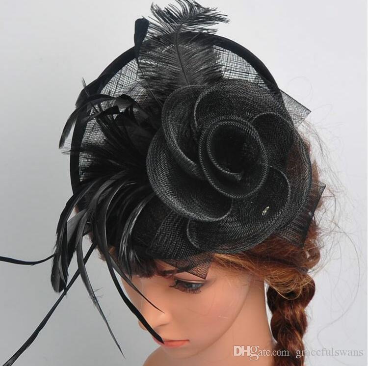 ful Bridal Hats New Arrival Chapeau Mariage Elegant Flower Feathers Wedding Accessories for Bride cappelli da cerimonia