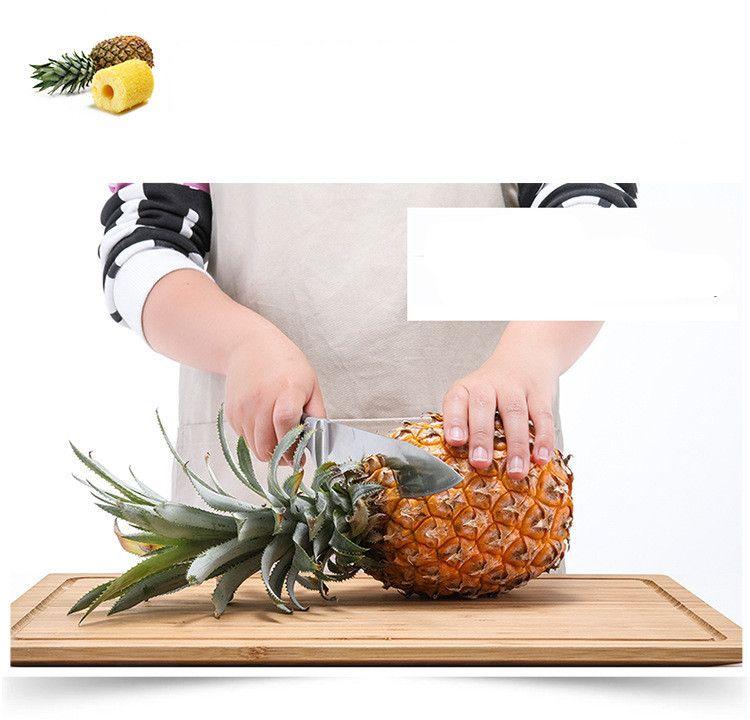 DHL Creative Stainless Steel Fruit Pineapple Corer Pineapple Slicers Kitchen Tools Pineapple Peeler Parer Knife