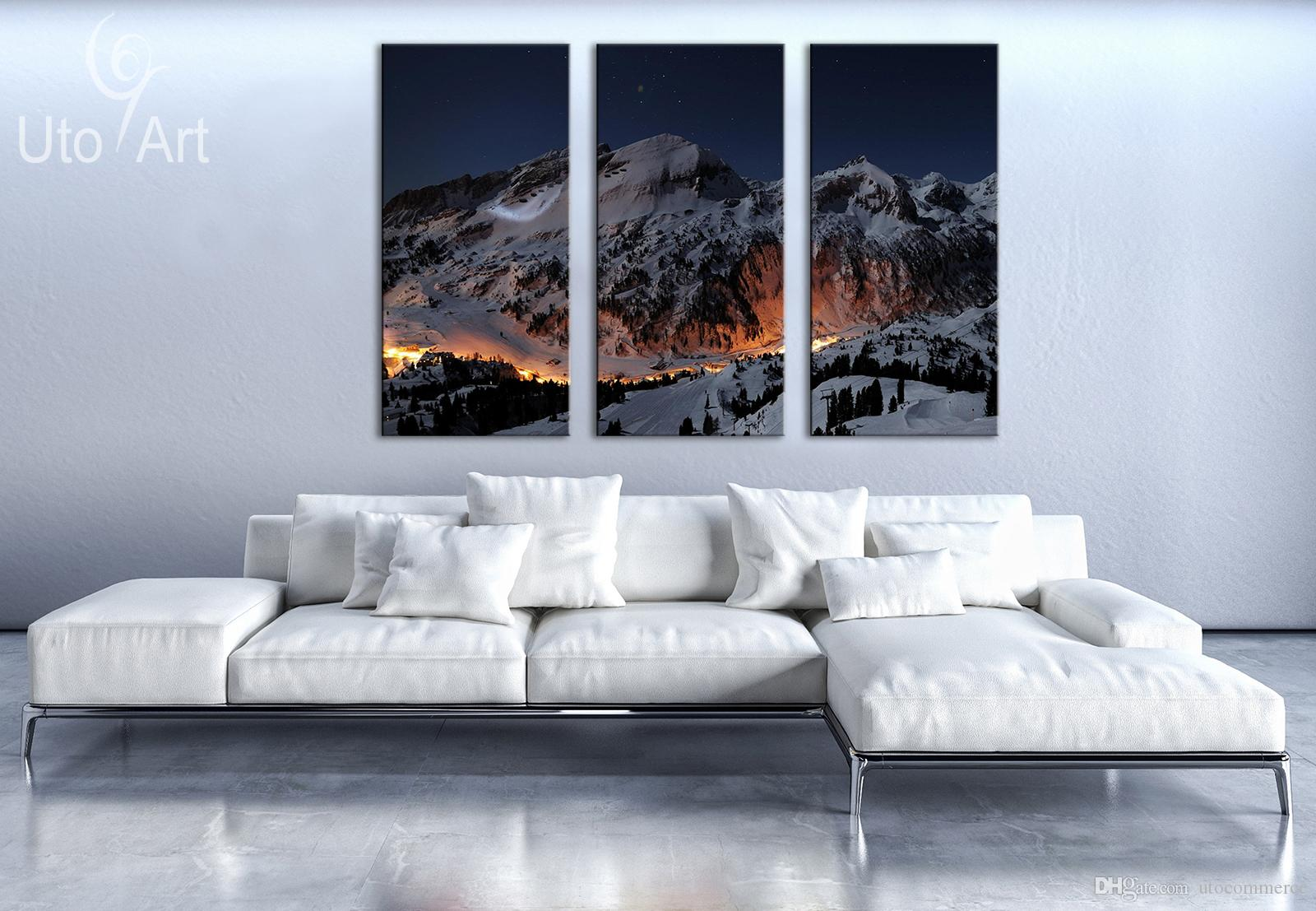 Unique Wall Decor Painting the Snow Mountain Landscape Art Print Decorative Digital Picture Canvas Printing For Living room
