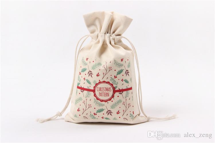 14 Styles Noël Grand Sac Monogrammable Santa Claus Sac à Cordon Avec Renne Monogramable Cadeaux De Noël Sac Sacs