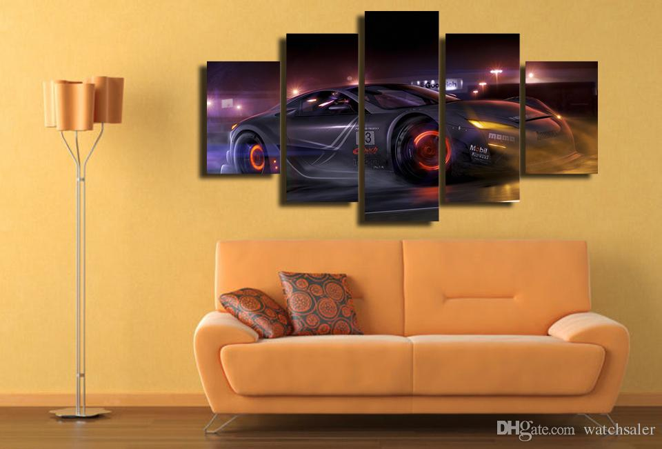HD Printed Luxury car Painting Canvas Print room decor print poster picture canvas brown wall art