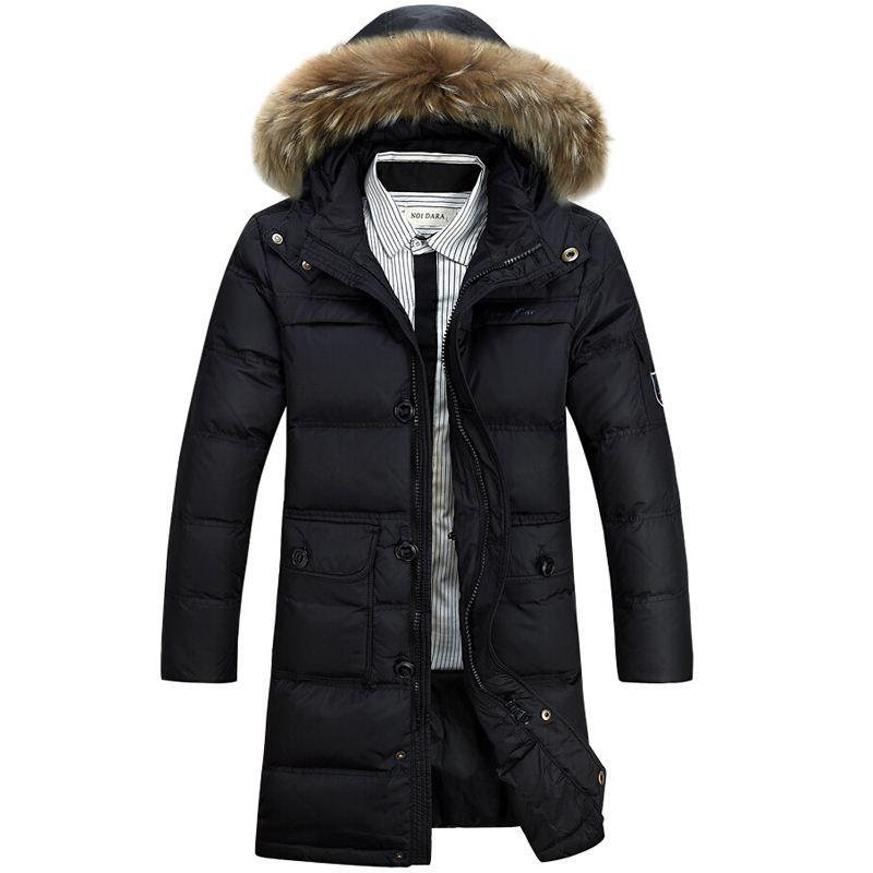 2019 Winter Jacket Men 90 White Duck Down Long Jackets Keep Warm
