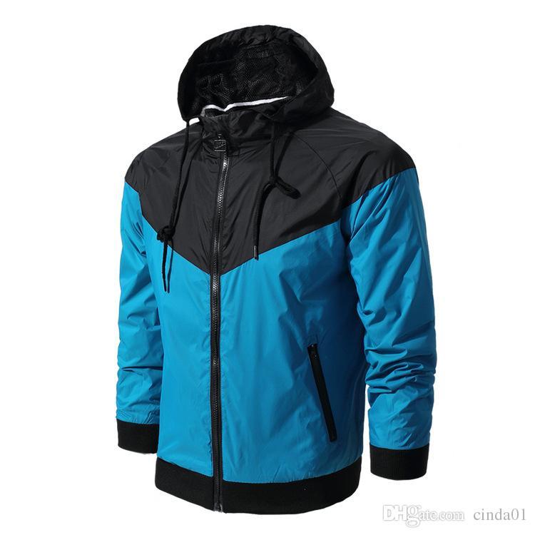 Moda Uomo Nuovo Giacca da donna Primavera Autunno Autunno Abbigliamento sportivo casual Abbigliamento Giacca a vento con cappuccio Cerniera su cappotti
