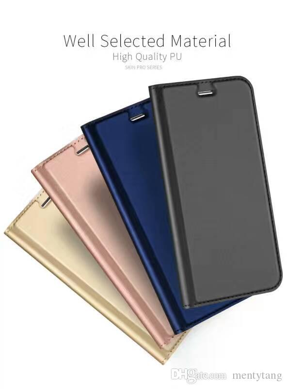 Dux Ducis Sony Xperia XZ F8332 Için Ipek Pro Deri kılıf Tam kapak Sentetik Deri Telefon Kapak Manyetik Kapak Geri