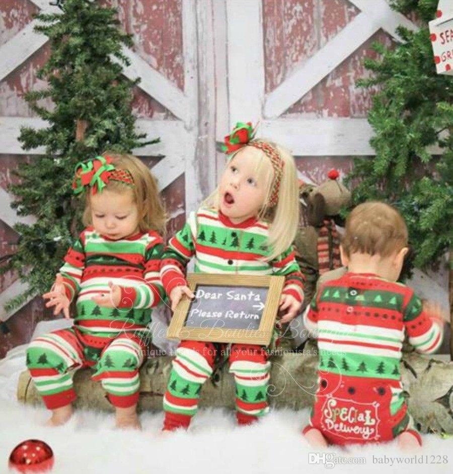 عائلة جديدة جميلة مطابقة عيد الميلاد منامة XMAX طويلة الأكمام رومبير ملابس النوم ملابس نوم الأسرة المباراة