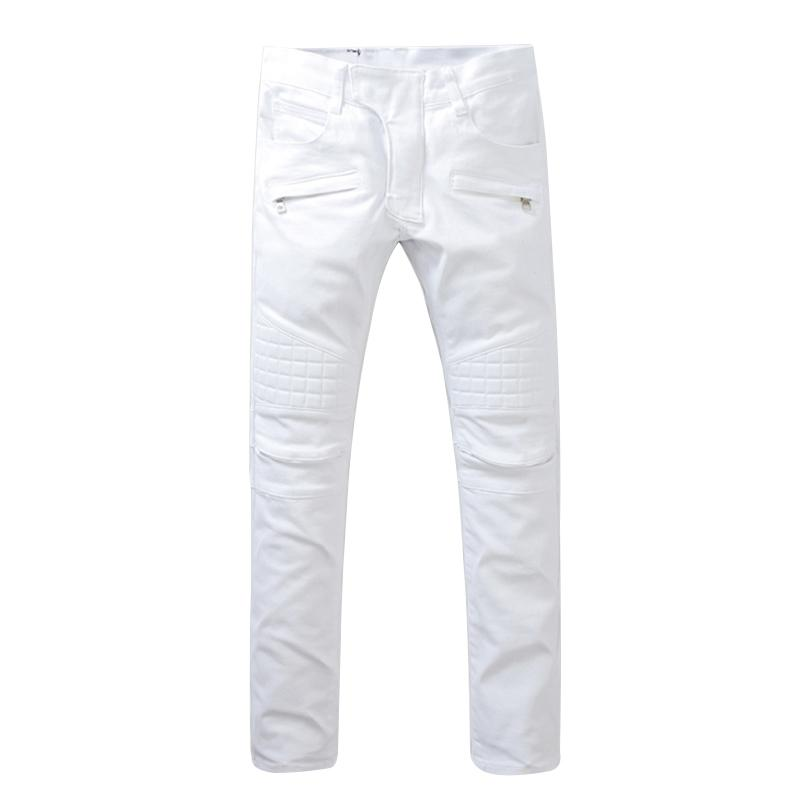 70de7aba54 2019 Wholesale White Mens Skinny Jeans 2017 Fashion Mens Jeans Slim  Straight High Quality Stretch Skinny Ripped Biker Jeans For Men JW108 From  Fenghuangmu, ...