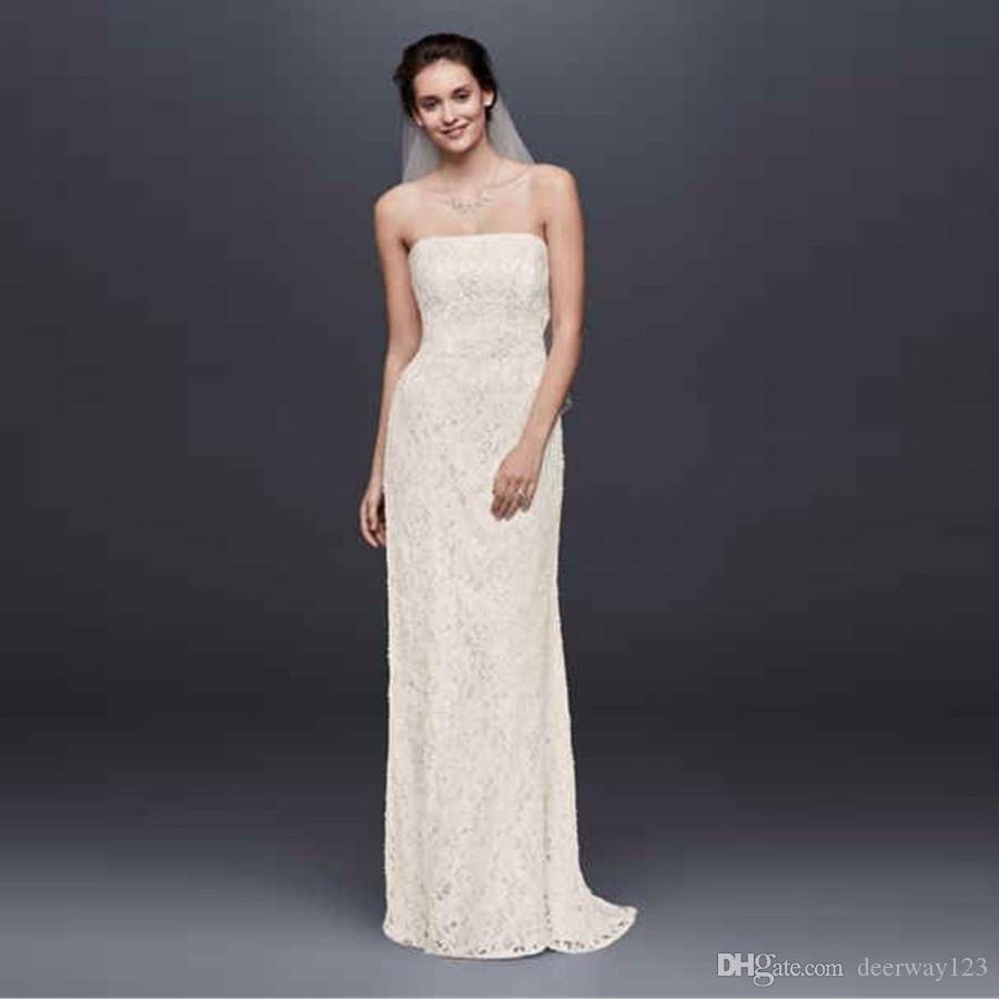 BalónImperioVaina toda la prenda con el cordón moldeado del diseñador del cordón cintura del imperio vestidos de novia sin tirantes de espalda abierta mangas de vestidos de novia S8551