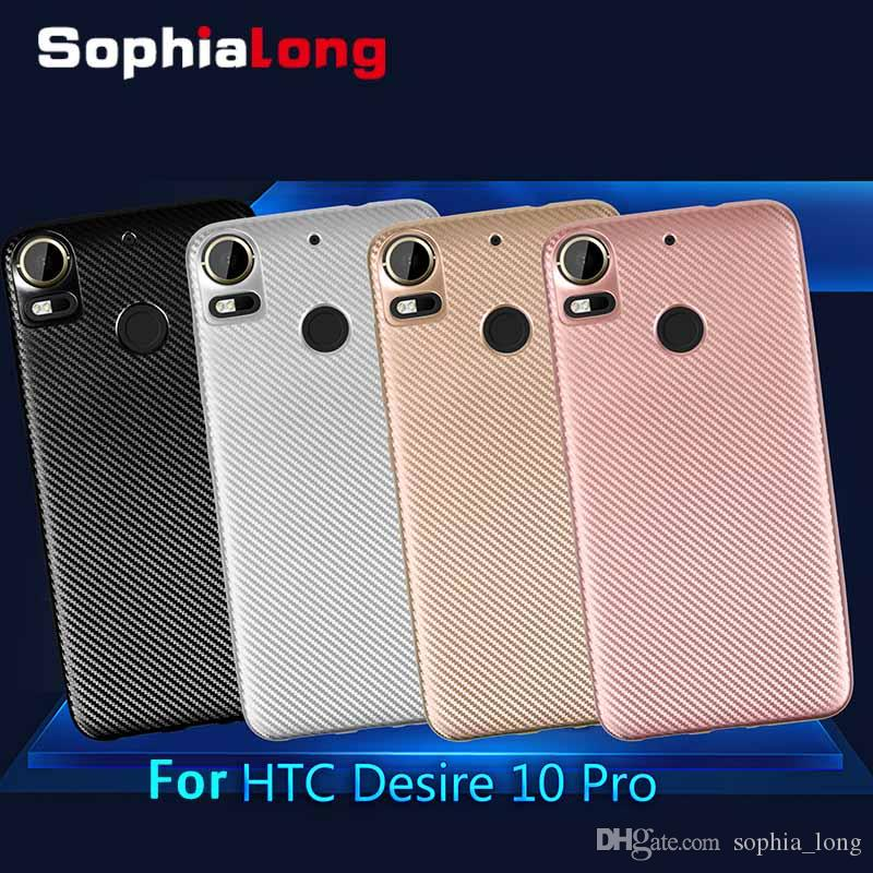 Back Cases for HTC Desire 10 Pro Case Soft Cover for HTC Desire 10 Caps  Carbon TPU Phone Protector 5 5