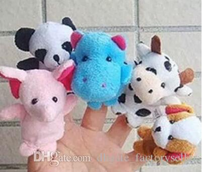 2017 Finger Puppets Finger Animals Toys Cute Cartoon Children's Toy Stuffed Animals Toys wholesale