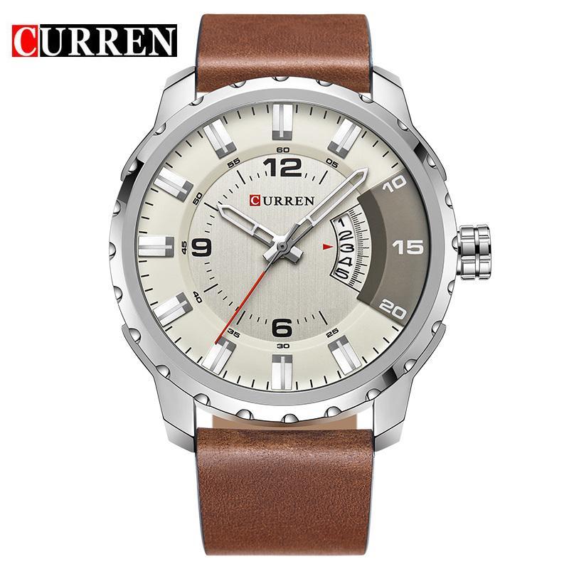 20656501ddb CURREN 8245 Fashion Wholesale Mens Wristwatch Strap Casual Business  Wristwatches Calendar Waterproof Black Relogio Masculino Prestige Watches  Bling Watches ...