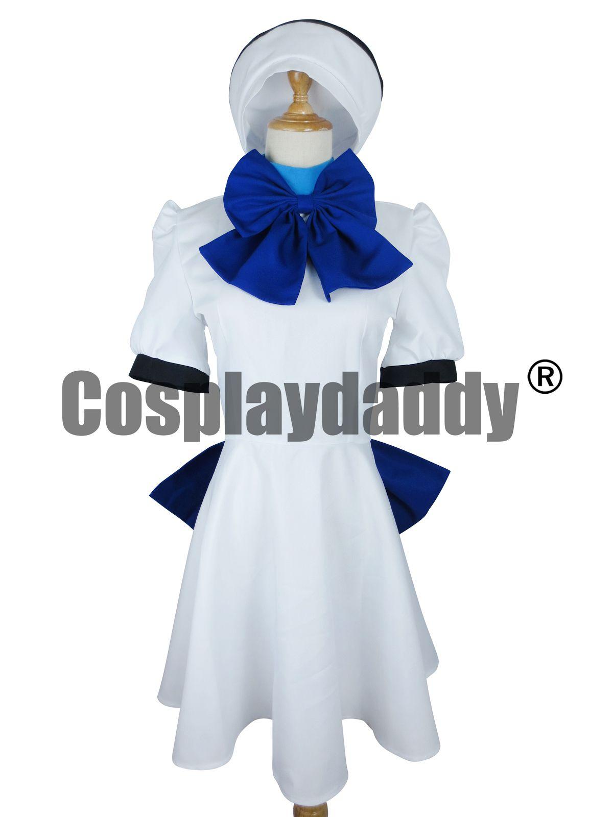 Higurashi нет Наку Коро ни косплей Рена Рюгу платье H008