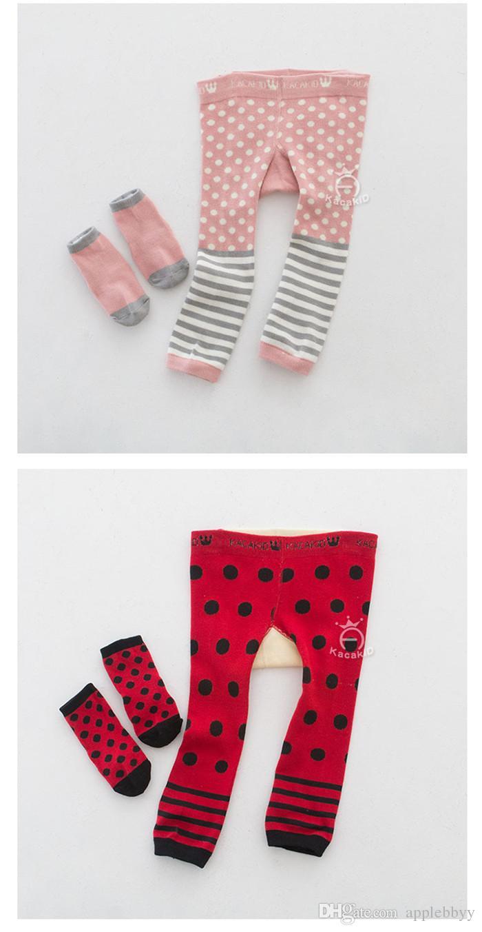 Marke Kleidung Cartoon Streifen Baby Leggings Elastische Baumwolle Weiche Mädchen PP hosen fuchs Pinguin Lion Kinder Strumpfhosen