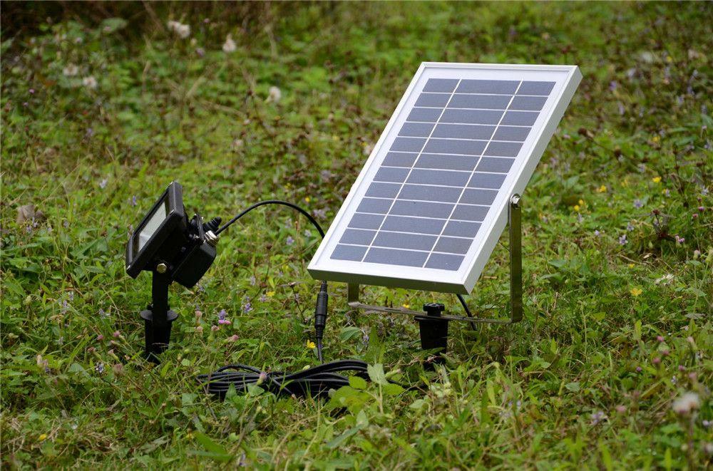 6V 6W Solar Panel 54 SMD3528 LEDs IP65 Waterproof Outdoor Garden Street Solar LED Floodlight Spotlight Lamp