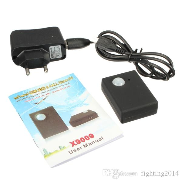 Wireless Mini Camera Sensore a infrarossi Allarme Quad band GSM Autodial Home Office Sicurezza GPS PIR Sistema di allarme MMS