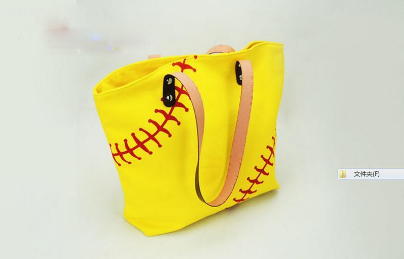 Marke New Fashion Baseball Totes Canvas Tote Sport Softball Tasche