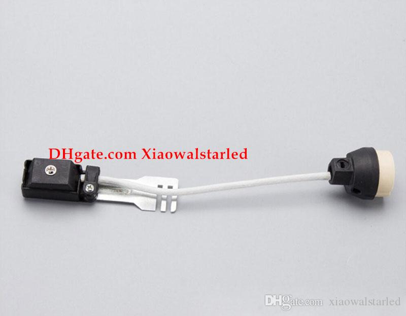 GU10 Lampensockel mit Deckel zwei Endeinheiten verbunden L Halterung GU10 Lampenhalter Kastentyp mit Anschlussdose Verdrahten