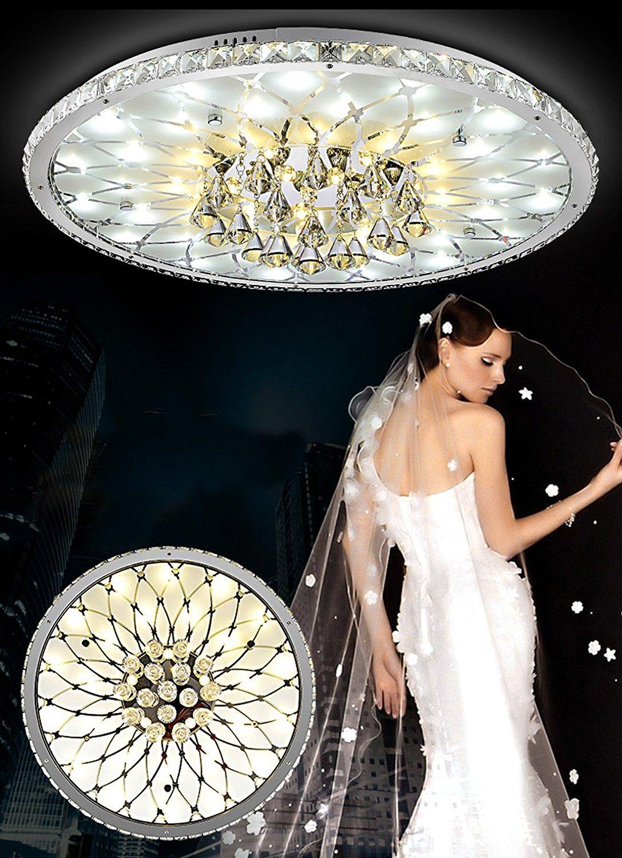 Moderne LED Deckenleuchte Runde Wohnzimmer Led Kristall Deckenleuchte,  Minimalistische Atmosphäre Europäische Lobby Restaurant Kristall Lamp Modern  Crystal ...