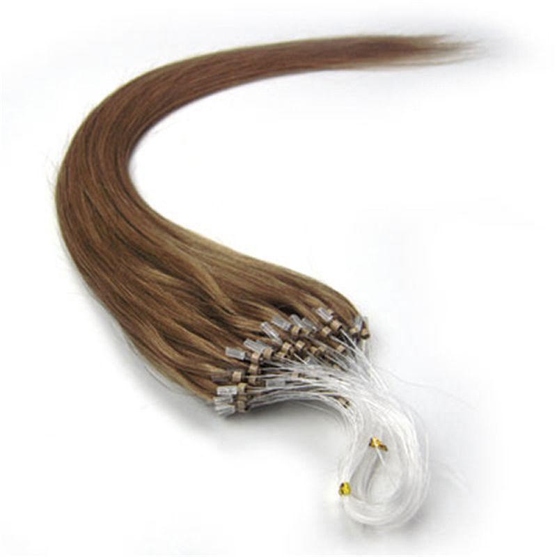 İnsan Saç Mikro Döngü Halka Saç Uzantıları 613 100 Strand Önceden gümrüklü 613 Mikro-döngü Brezilyalı İnsan Saç