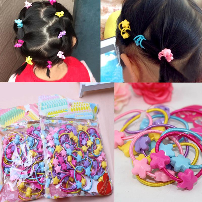 Wholesale  Pack Cute Children Elastic Hair Bands Kids Hair Ties Baby Rubber  Band Headdress Baby Girls Hair Accessories Wedding Hair Accessories Flowers  ... bd414a12a73