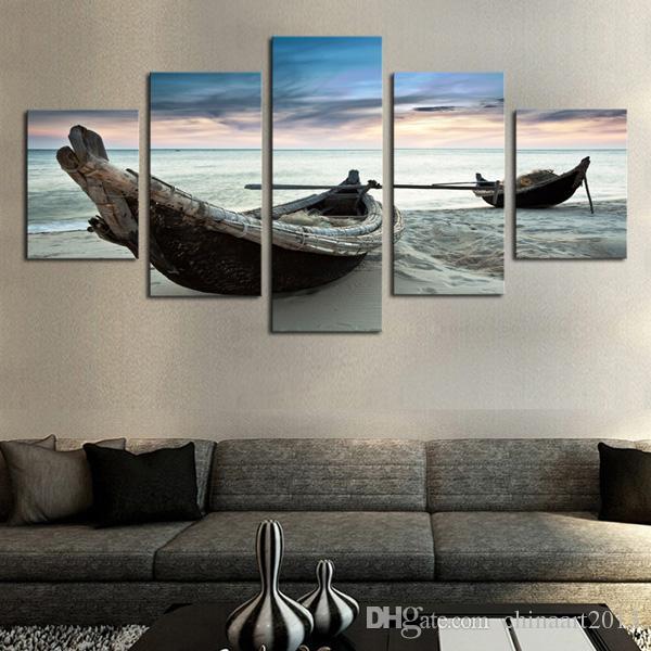 5 шт. современный HD печатных живопись морские пейзажи масляной живописи на холсте стены искусства фотографии украшения дома для гостиной