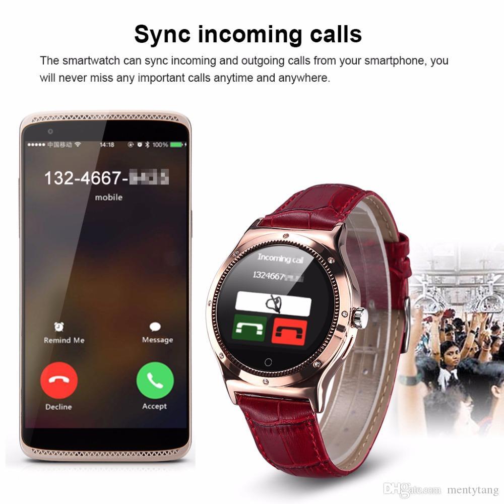 Android Diamond: Lady'S Diamond Smart Watch Ios Android Ip67 Waterproof