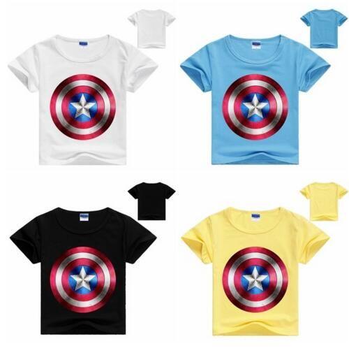 0ea434bb58 2019 Children Unique Marvel Captain America T Shirts Super Hero Design Kids  Top T Shirt Ringer Captain America Boys T Shirts Captain From Wz51688