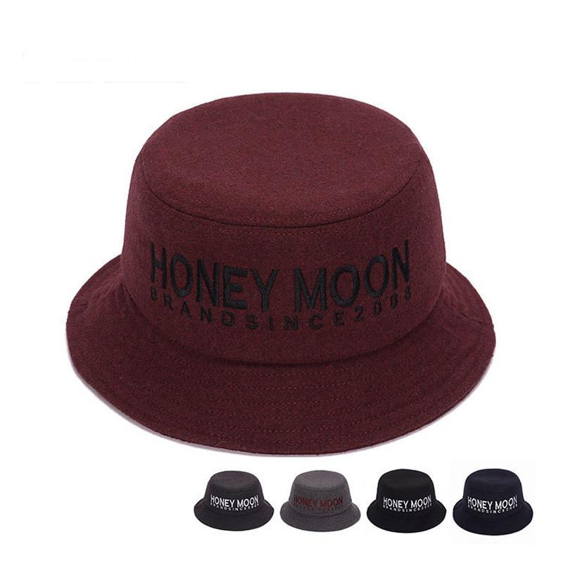 4b4f9373088 2019 Autumn Winter Men Women Wool Fisherman S Hat Fashion Felt Trilby Hat  Cap Letter Portable Bucket Hats For Unisex GH 258 From Gslyy0712
