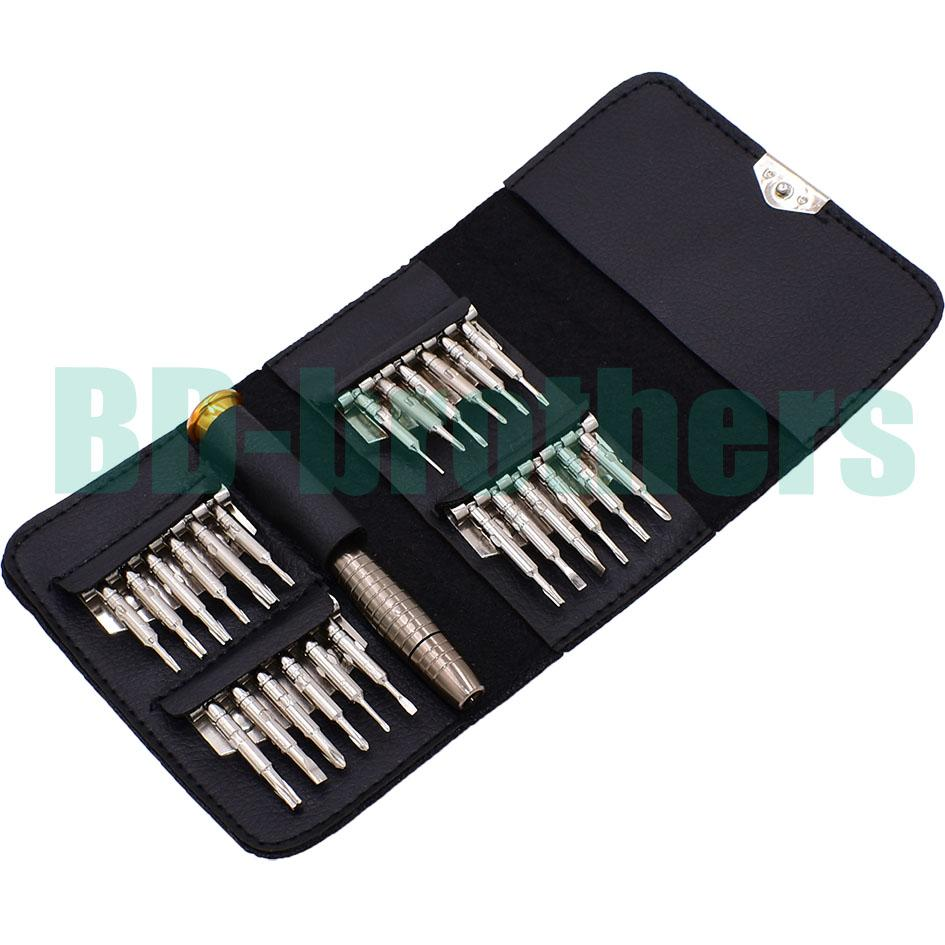 New With 0.6Y All in One Torx Bit Set Hot Sale 25 in 1 Wallet Screwdriver Set for iPhone 7 Hand Tools