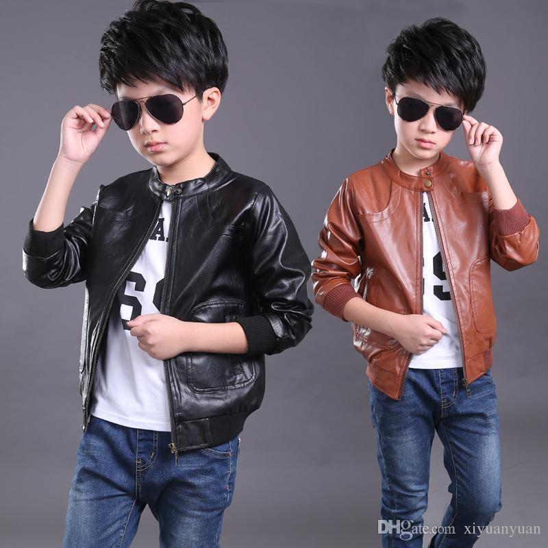 b84419906 Children Boys Coat 2016 Children S Jacket Leather Fashion Baby Boy ...