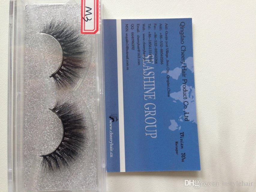 High Quality Handmade 3D mink lashes strip Luxury thick fake faux eyelashes Makeup beauty
