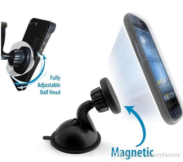 Emme Jel Süper Güçlü Vantuz ile Araç Tutucu Manyetik Emme 360 Derece Dönen Cep Telefonu için Cam Pano Dağı
