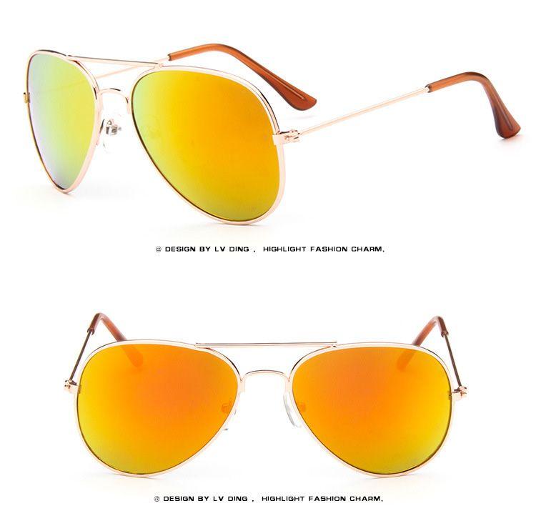 2017 Brand Designer Sun Glasses for Children Cool Mirror Reflective Metal Frame Kids Sunglasses Children's Glasses UV400 b639