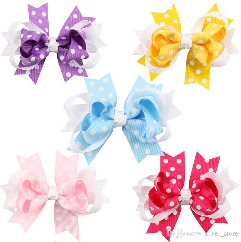 Good A++ New children hairpin multi-color wave point Yan tail hair ornaments FJ092 a