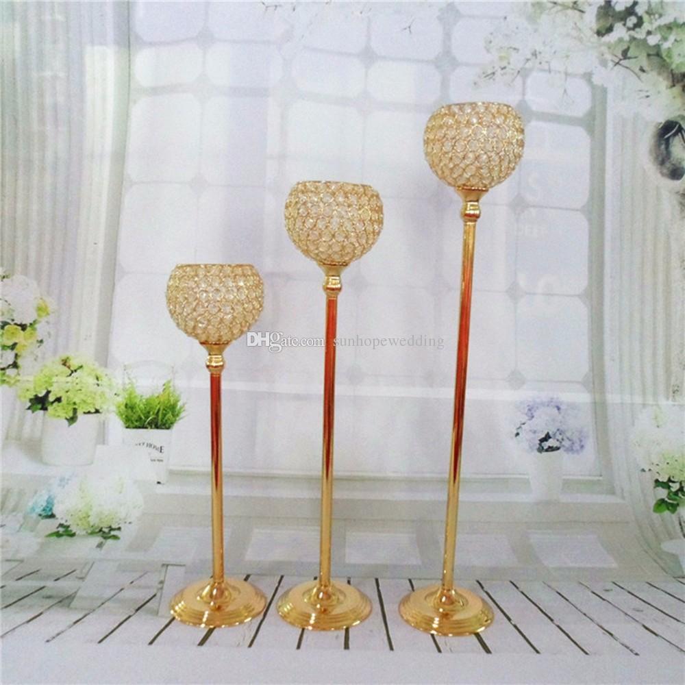ruban ou fleur de cristal doré des pièces maîtresses pour mariage