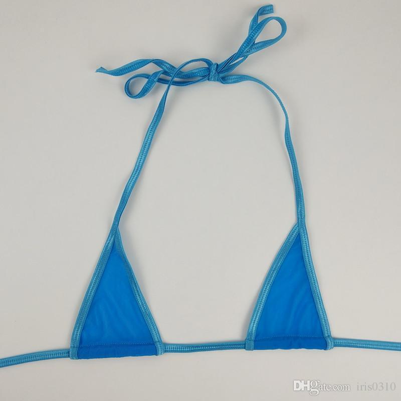 여성 섹시 미니 마이크로 비키니 붕대 투명 작은 수영복 BathingSuit Beachwear 스트랩 에로틱 란제리 속옷 세트 나이트웨어