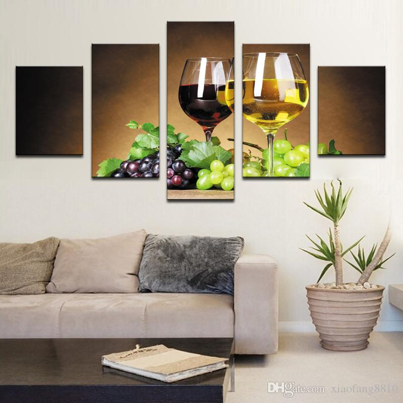home decoration Wine cups pictures canvas oil painting on wall art for living room print decor cheap modern no frames