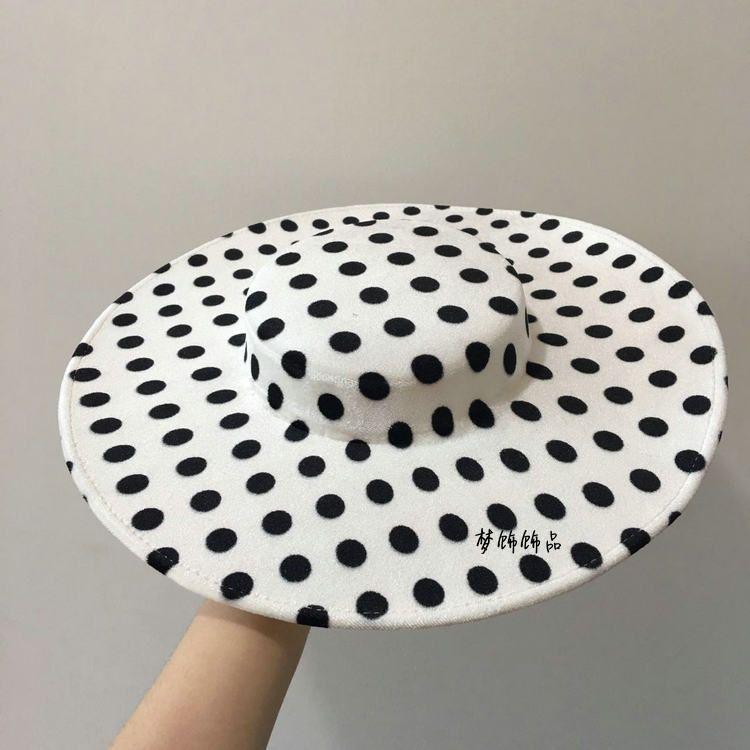 Frau Kopfschmuck Haar New Französisch Hut, DIY, Satin, Samt, schwarz und weiß flache Oberseite, handgemachten Hut, Embryo-Basis, Schmuck